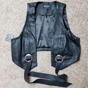 Nasty Gal Kickin' Up Dust Leather Vest Straps